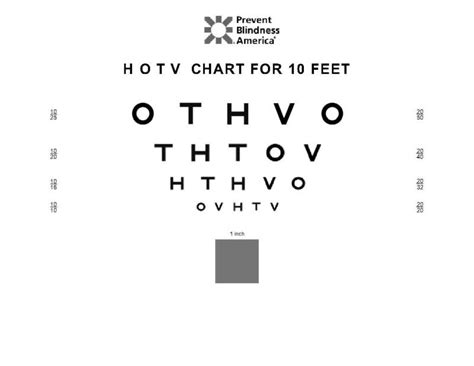 printable sloan eye chart patched surround hotv visual acuity free test kit images