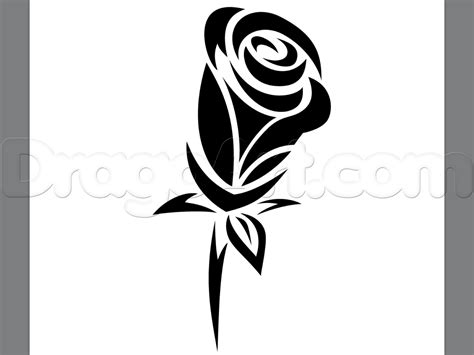 draw a rose tattoo how to draw a tribal step by step tattoos