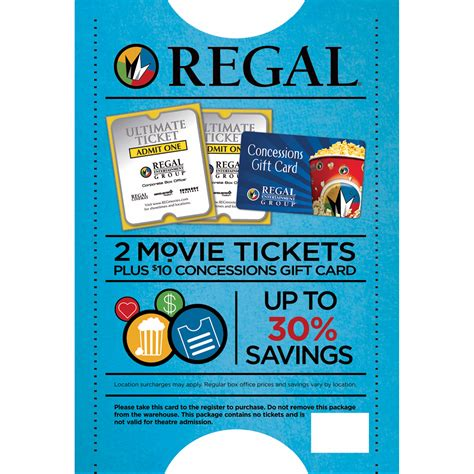 Regal Entertainment Gift Card Balance - regal entertainment group premiere movie ticket 2 pk with 10 gift card bj s