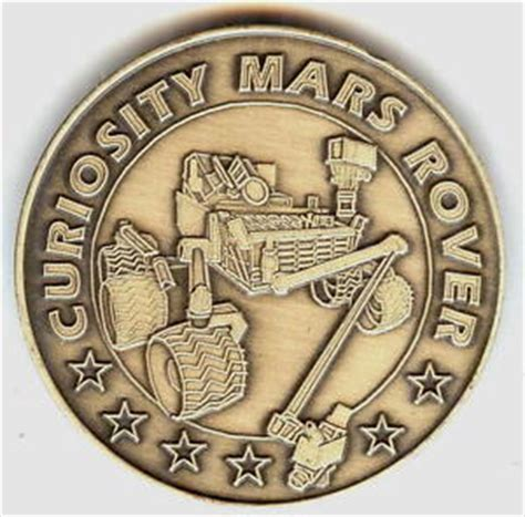 curiosity rover landing date n513 nasa space coin medal mars rover mission curiosity