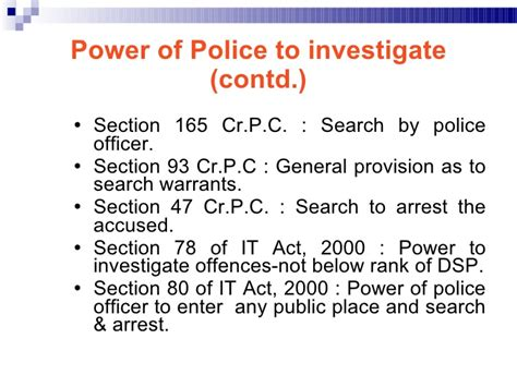 Search Warrant Crpc Information Technology Act 2000 An Overview