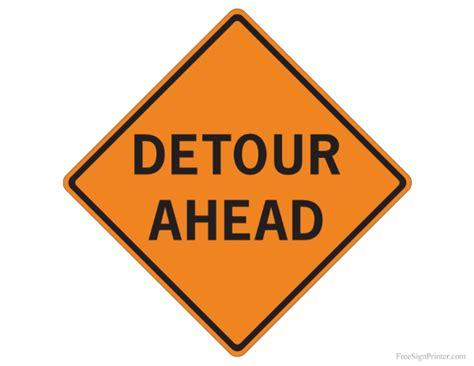 printable road signs printable detour ahead sign