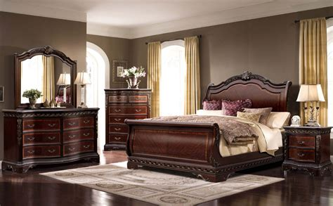 sleigh king bedroom set 4 piece mcferran bella sleigh bedroom set