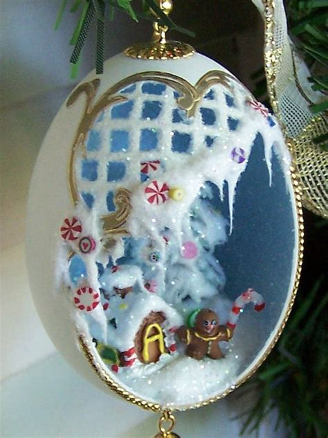 gingerbread christmas ornament candy theme duck egg by