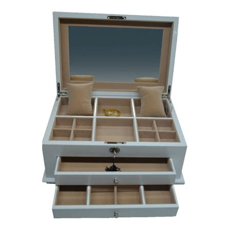 Jewellery Armoire Australia by White Jewellery Box Multi Compartment Free Delivery