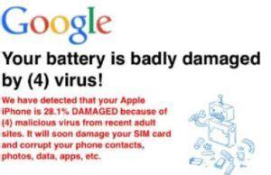 virus your battery has been damaged 171 votre batterie est trop endommag 233 e par 4 virus 187 scam