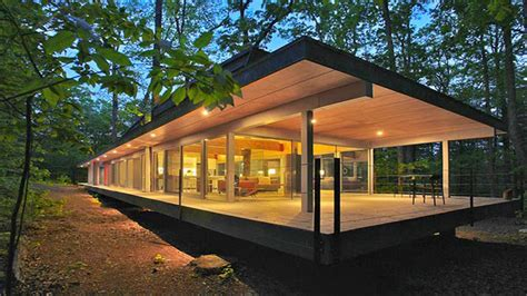 Floor Plans With Guest House by Home Of The Week A Modern Treehouse In The West Virginia