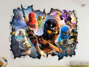 Wall Art Stickers Childrens Rooms lego ninjago 3d look wall vinyl sticker poster childrens