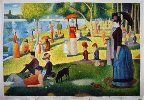 georges seurat most paintings a cartoon masterpiece hi lois