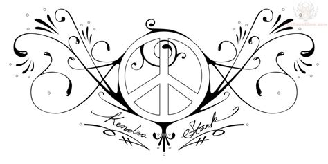 love and peace tattoo designs peace and design