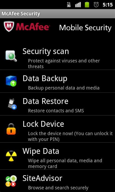 mcafee for android mcafee to come pre loaded on sony ericsson xperia mini and mini pro eurodroid