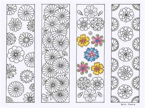 free printable bookmarks flowers coloring bookmarks flowers pdf download bookmarks to by