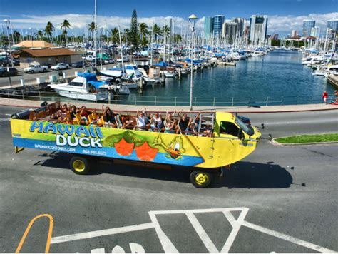 duck boat tour cost hawaii duck tours waikiki land sea sightseeing oahu