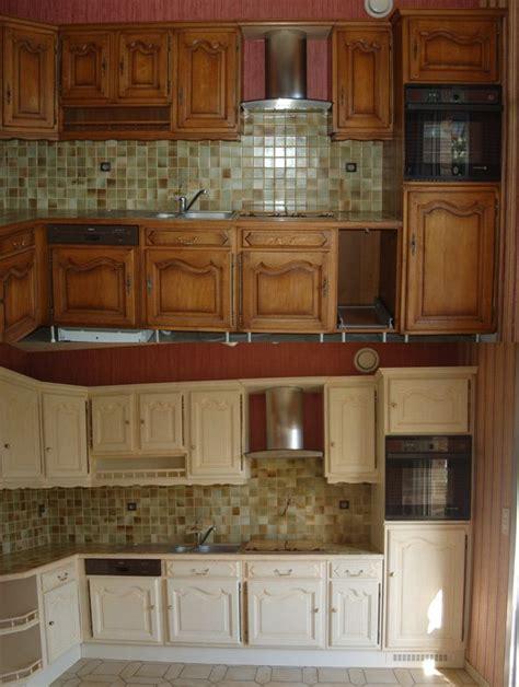 relooking meubles cuisine relooking de cuisine en bois massif ch 234 ne vannes