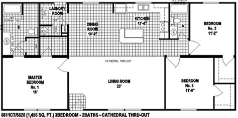 wide open floor plans sectional mobile home floor plan the 6611 spring view