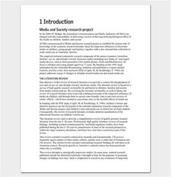 Literature Review Template Doc by Doc 585620 Literature Review Template 6 Literature