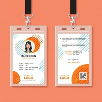 free id card template vector id cards vectors photos and psd files free