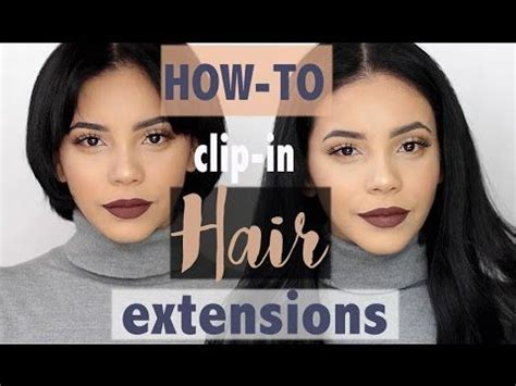 clip in hair extensions baton how to clip in hair extensions on hair camille