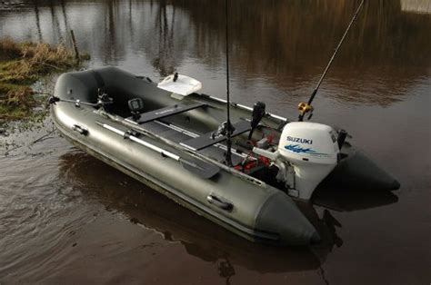 rib boat unsinkable bison inflatable fishing boat 14 ft olive green fishing
