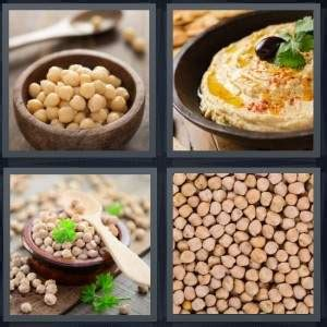 vegetables 4 pics one word 4 pics 1 word answer for garbanzo hummus beans