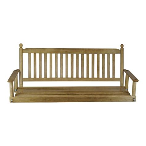 patio swing maple 5 ft porch patio swing 205psm rta the home depot