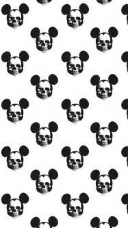 mickey skulls iphone wallpaper