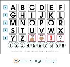 printable alphabet communication board alphabet spelling communication board helps non verbal