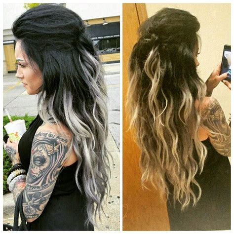 black and blonde ombre images best 20 black and blonde ombre ideas on pinterest black
