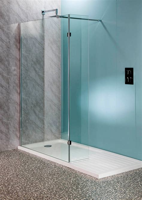 bathtub glass panel deluxe10 1400mm x 900mm walk in shower enclosure tray 10mm glass panels