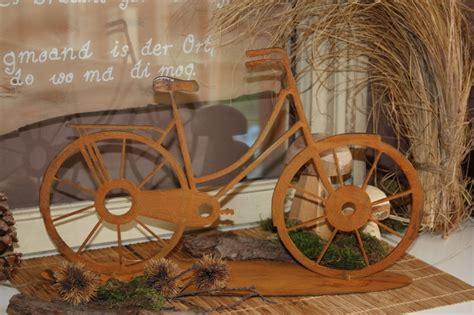 Deko Fahrrad Garten edelrost fahrrad tischdeko mit pfiff 187 edelrostshop