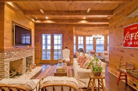 rustic family room rustic family room htons habitat