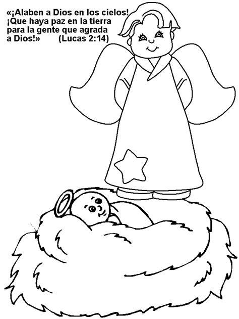 dibujos biblicos dibujos de la biblia angeles para dibujos navidad colorear jesucristo beb 233 y angel colorear