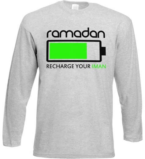 Recharge Your Iman ramadan recharge your iman langarm t shirt muslim halal