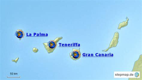 karten der kanarischen inseln kanarische inseln spanien