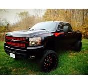 Red And Black Lifted Silverado  Trucks Diesels Pinterest