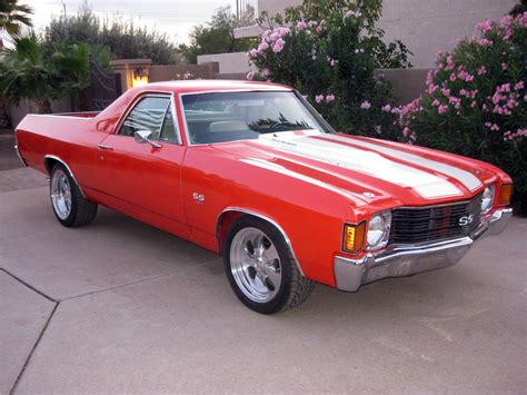 el camino orange 1972 chevrolet el camino ss pickup 116336