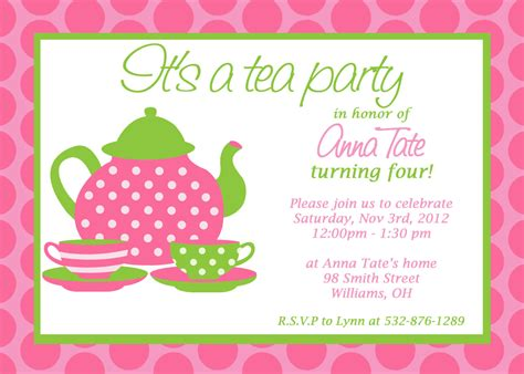 stunning tea invitation template almost unique article happy for you