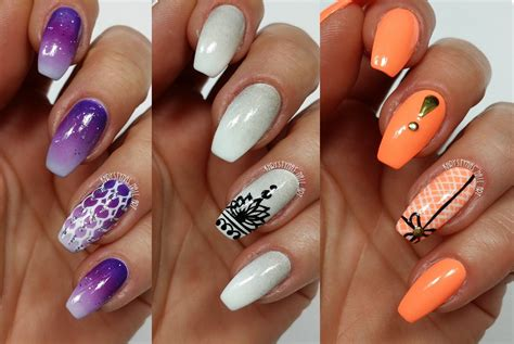 Freehand Nail by 3 Easy Accent Nail Ideas Freehand 4 Khrystynas Nail