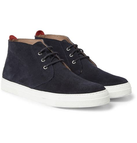 beat boots oliver spencer beat suede rubber soled chukka boots in