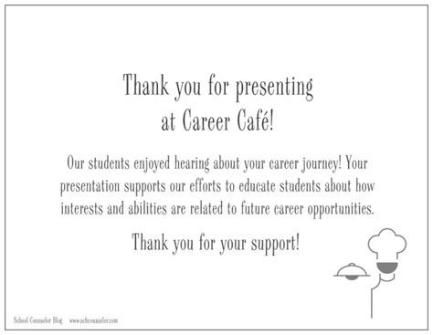 Thank You Letter For Counseling Career Caf 233 School Counselor Store