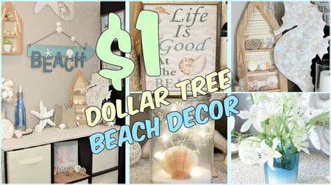 Dollar Tree Home Decor Ideas dollar tree beach home decor ideas youtube