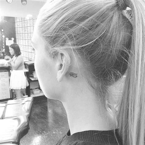 ankh tattoo behind ear tiny eye of horus tattoo behind the left ear tattoo