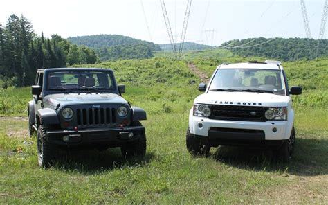 Land Rover Jeep Jeep Wrangler Vs Land Rover Lr4 Mud Or Chagne