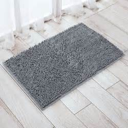 Non Slip Bathroom Rugs Updated Vdomus Non Slip Microfiber Shag Bath Mat Bathroom Mats Shower Rugs Gray 20 X 32 Inches