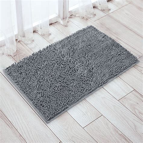 Shag Bathroom Rugs Vdomus Non Slip Microfiber Shag Bath Mat Bathroom Mats Shower Rugs Gray 20 X 32 Inches