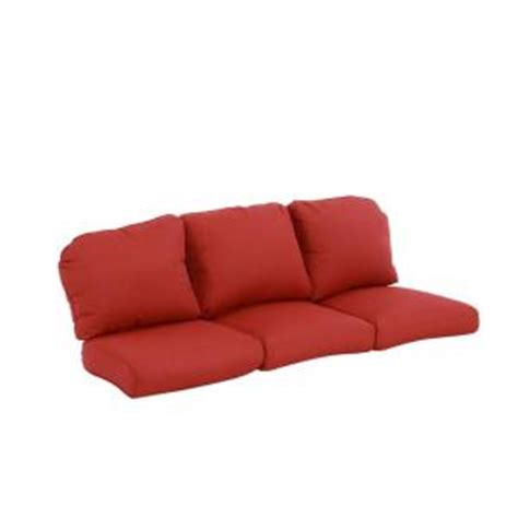 Home Depot Replacement Patio Cushions by Hton Bay Walnut Creek Replacement Outdoor Sofa