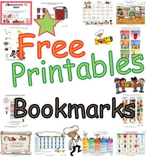 free printable nutrition bookmarks fun kids bookmarks free printable bookmarks kids