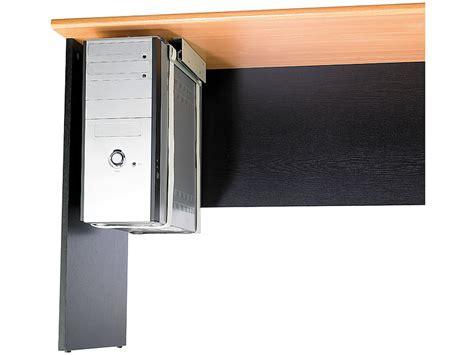 pc halterung schreibtisch universal schienen halterung zur pc untertisch montage set