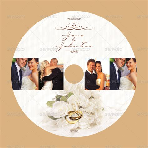 Wedding Album Cover Text by Wedding Cd Dvd Cover Free Psd Brochure Template