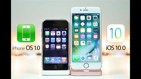 iphone one iphone os 1 0 vs ios 10 0 what s changed in 9 years